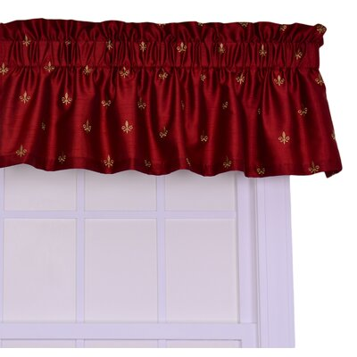 Chateau 50 Curtain Valance Color: Red
