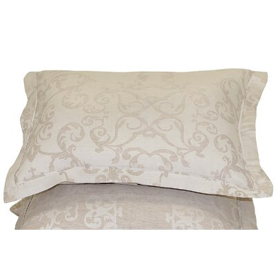 Savoy Jacquard Sham Size: Euro, Color: Natural