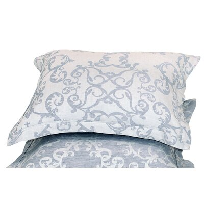 Savoy Jacquard Sham Size: Standard, Color: Denim Blue