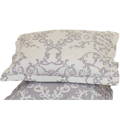 Savoy Jacquard Sham Size: Standard, Color: Charcoal