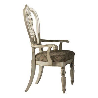 Birdsview Arm Chair (Set of 2) Color: Antique Ivory