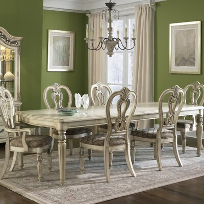 Birdsview Dining Table Color: Antique Ivory