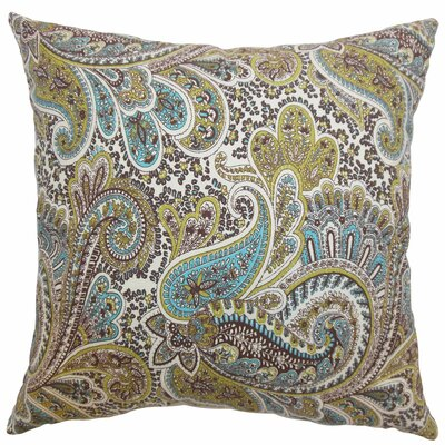 Amalienborg Paisley Cotton Throw Pillow Size: 24 x 24