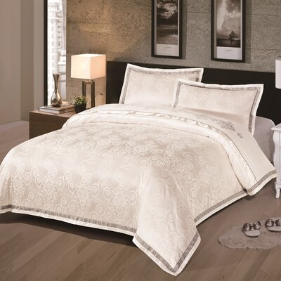 Dunstanburgh 3 Piece Duvet Cover Set Size: Queen