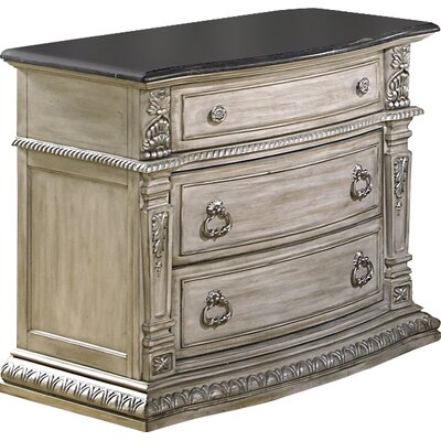 Toddington 3 Drawer Nightstand