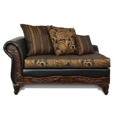 Mouros Chaise Lounge Upholstery: Candy Tuft Storm / San Marino Black