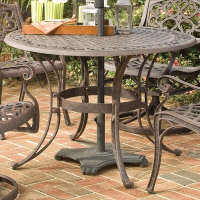 Van Glider Dining Table Finish: Rust Brown Metal, Table Size: 42