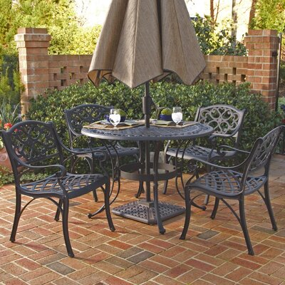 Van Glider 5 Piece Dining Set Finish: Black