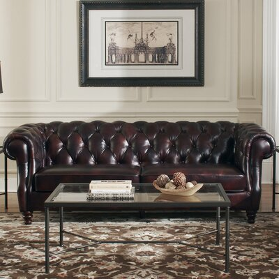 Tilsworth Leather Chesterfield Sofa