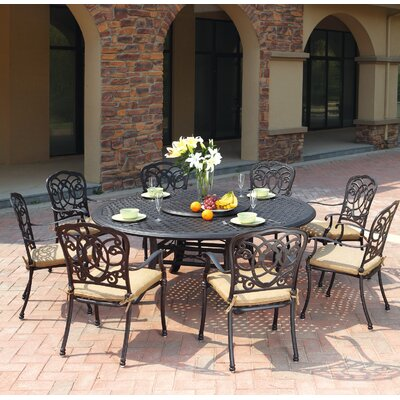 Dolby 9 Piece Dining Set with Cushions
