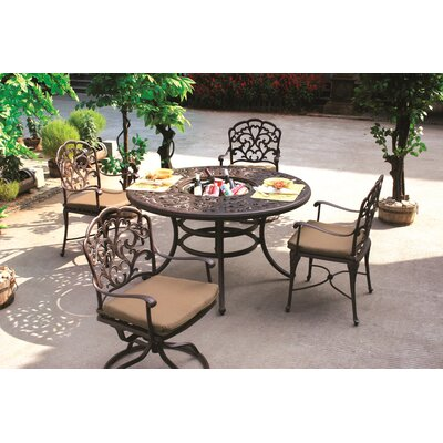 Astoria Grand 5 Piece Dining Set with Cushions
