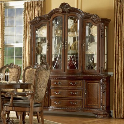 Brussels Ormside Lighted China Cabinet