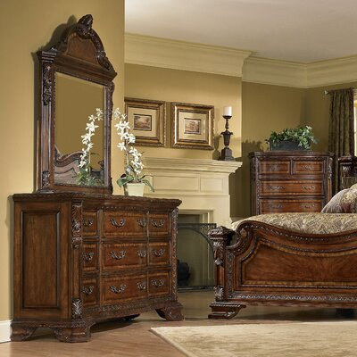 Ormside 9 Drawer Dresser with Mirror