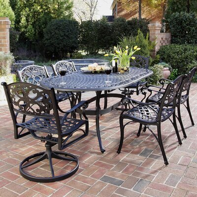 Van Glider 7 Piece Dining Set Finish: Antique Black