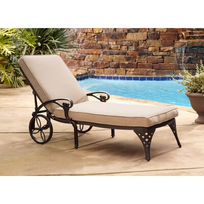 Van Glider Chaise Lounge with Cushion Color: Bronze Chaise Lounge / Taupe Cushion