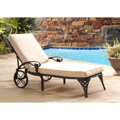 Van Glider Chaise Lounge with Cushion Color: Black Chaise Lounge / Taupe Cushion