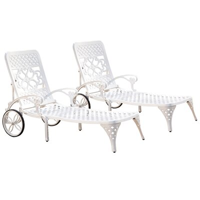 Van Glider Chaise Lounge Finish: White
