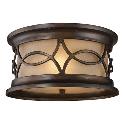 Boarstall 2-Light Ceiling Flush Mount