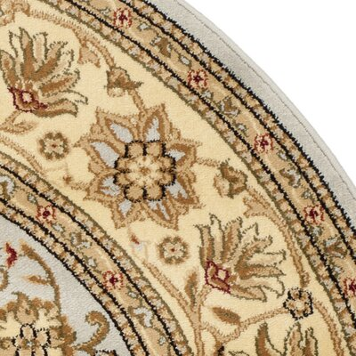 Ellesborough Grey / Beige Area Rug Rug Size: Round 6