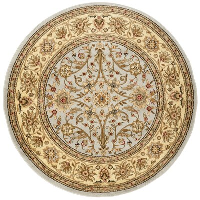 Ellesborough Grey / Beige Area Rug Rug Size: Round 53