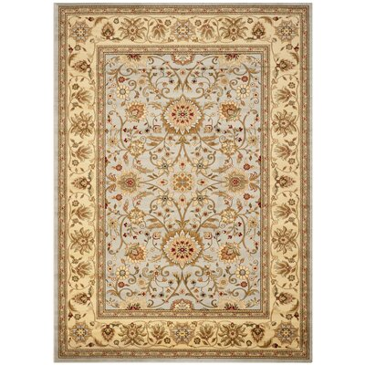 Ellesborough Gray/Beige Area Rug Rug Size: 8' x 11'