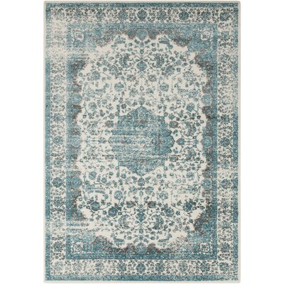 Astoria Grand Barlett Gray/Teal Area Rug