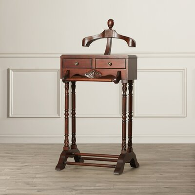 Baham Cherry Valet with Two Drawers