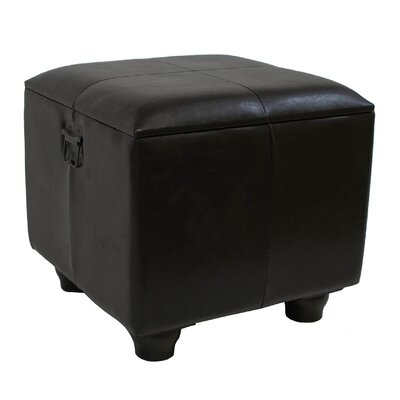 Stone Castle Indoor 16-Inch Ottoman Upholstery: Dark Chocolate