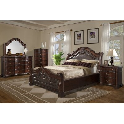 Alanya Sleigh Configurable Bedroom Set Size: King