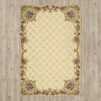 Westin Hand-Hooked Ivory Area Rug Rug Size: Runner 23 x 8