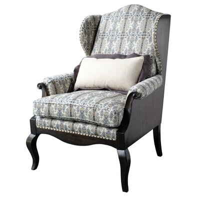 Wing back Chair Upholstery: Black
