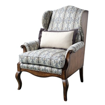 Wing back Chair Upholstery: Brown