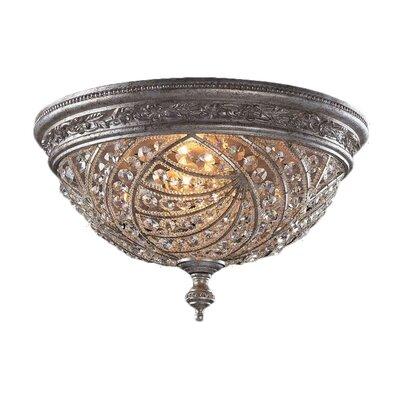 Jaidan Crystal 4-Light Flush Mount