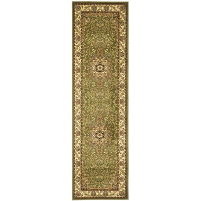 Richborough Sage/Ivory Area Rug Rug Size: Runner 23 x 8