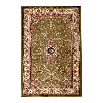 Richborough Sage/Ivory Area Rug Rug Size: 5'3