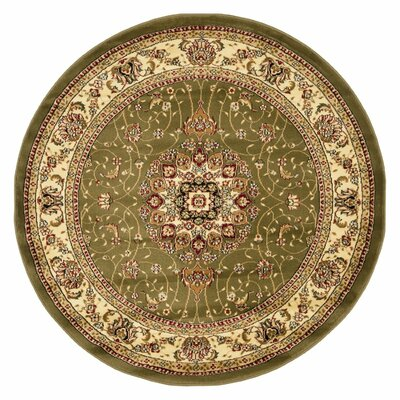 Richborough Sage/Ivory Area Rug Rug Size: Round 8
