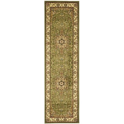 Richborough Sage/Ivory Area Rug Rug Size: Runner 23 x 6