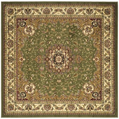 Richborough Sage/Ivory Area Rug Rug Size: Square 6