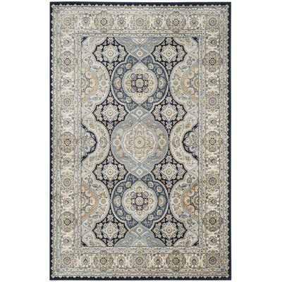 Pentillie Navy/Ivory Area Rug Rug Size: Rectangle 4 x 57