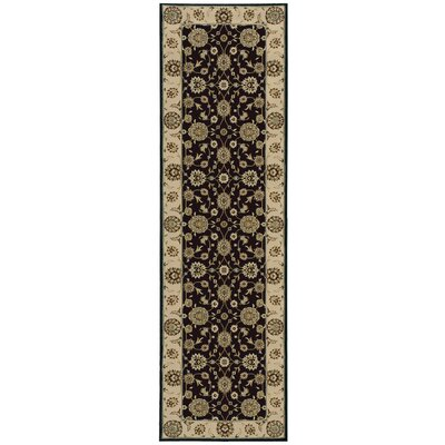 Bollitree Black/Beige Area Rug Rug Size: Rectangle 93 x 129