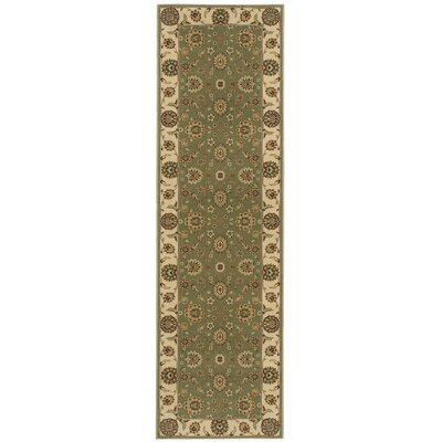 Bollitree Green/Beige Area Rug Rug Size: Rectangle 93 x 129