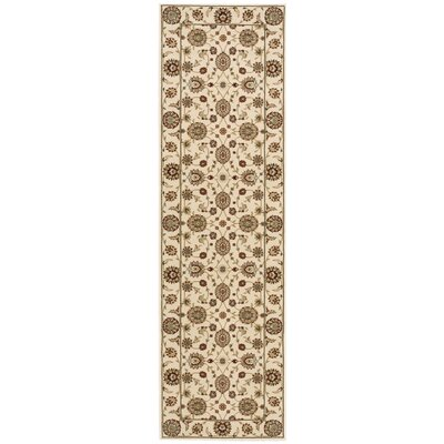 Bollitree Ivory/Beige Area Rug Rug Size: Rectangle 93 x 129