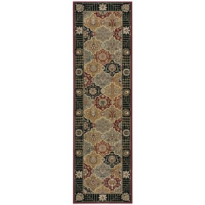 Bollitree Black Area Rug Rug Size: Rectangle 39 x 59