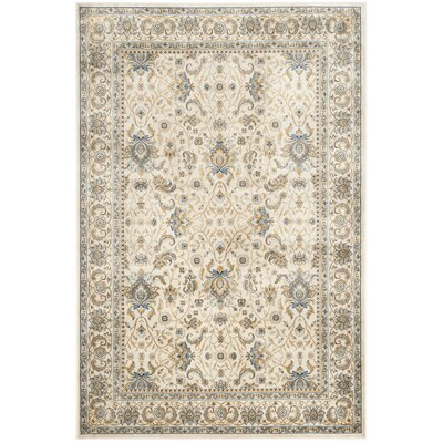 Woodhay Ivory/Ivory Area Rug Rug Size: Rectangle 51 x 77