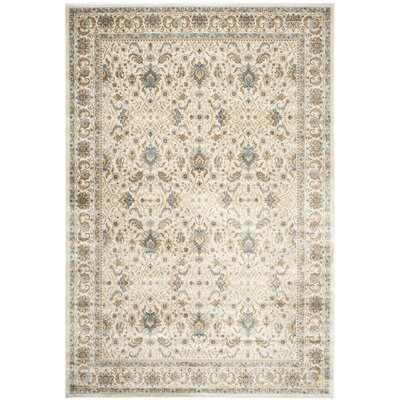 Woodhay Ivory/Ivory Area Rug Rug Size: Rectangle 8 x 11
