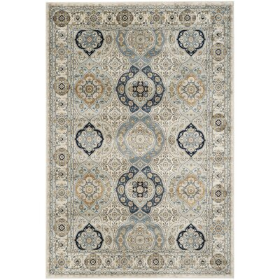 Baddesley Ivory/Ivory Area Rug Rug Size: Rectangle 8 x 11