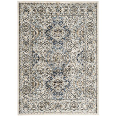 Baddesley Ivory/Ivory Area Rug Rug Size: Rectangle 4 x 57