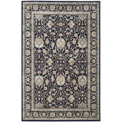 Otterburn Navy/Navy Area Rug Rug Size: Rectangle 67 x 92