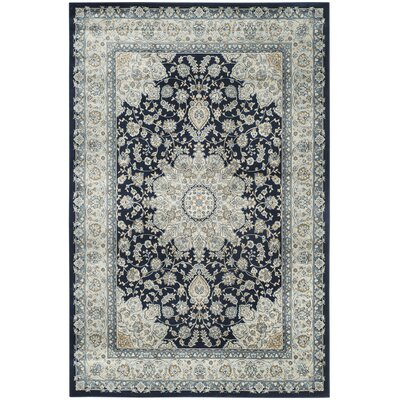 Highcliffe Navy/Light Blue Area Rug Rug Size: Rectangle 51 x 77