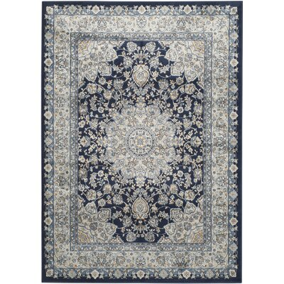 Highcliffe Navy/Light Blue Area Rug Rug Size: Rectangle 4 x 57